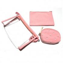 Набор косметичек Одуванчик 3ШТ. B107-6-pink