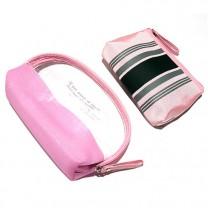 Набор косметичек Полоска принт 2ШТ B6004-lt.pink