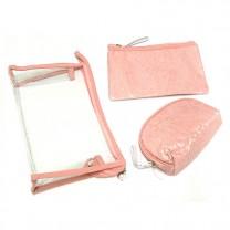 Набор косметичек Кружево 3ШТ. B107-pink